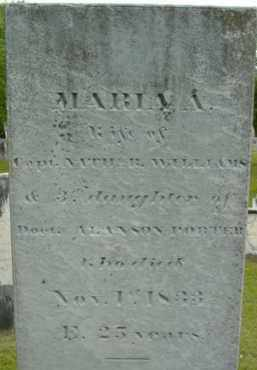 WILLIAMS, MARIA A - Berkshire County, Massachusetts | MARIA A WILLIAMS - Massachusetts Gravestone Photos