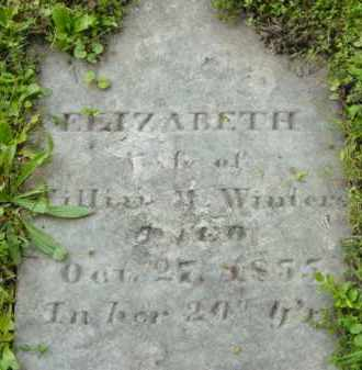WINTERS, ELIZABETH - Berkshire County, Massachusetts   ELIZABETH WINTERS - Massachusetts Gravestone Photos