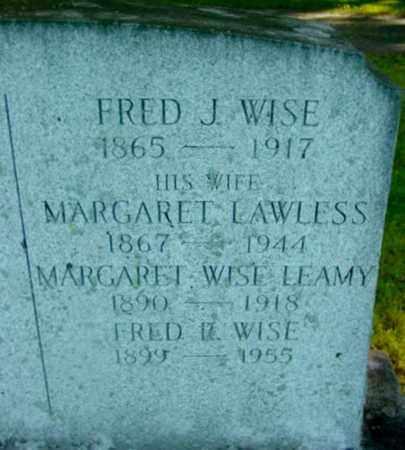 WISE, FRED J - Berkshire County, Massachusetts | FRED J WISE - Massachusetts Gravestone Photos