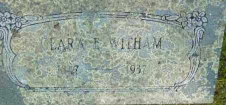 WITHAM, CLARA E - Berkshire County, Massachusetts | CLARA E WITHAM - Massachusetts Gravestone Photos