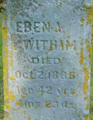 WITHAM, EBEN A - Berkshire County, Massachusetts   EBEN A WITHAM - Massachusetts Gravestone Photos