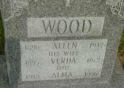 WOOD, VERDA - Berkshire County, Massachusetts | VERDA WOOD - Massachusetts Gravestone Photos