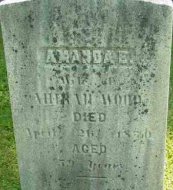 WOOD, AMANDA E - Berkshire County, Massachusetts | AMANDA E WOOD - Massachusetts Gravestone Photos