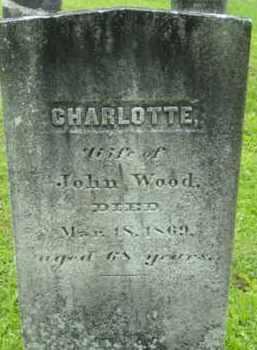 WOOD, CHARLOTTE - Berkshire County, Massachusetts | CHARLOTTE WOOD - Massachusetts Gravestone Photos