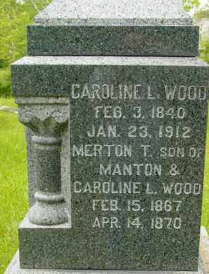 WOOD, CAROLINE L - Berkshire County, Massachusetts | CAROLINE L WOOD - Massachusetts Gravestone Photos