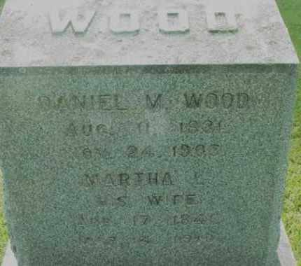 WOOD, MARTHA L - Berkshire County, Massachusetts | MARTHA L WOOD - Massachusetts Gravestone Photos