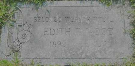 WOOD, EDITH F - Berkshire County, Massachusetts | EDITH F WOOD - Massachusetts Gravestone Photos