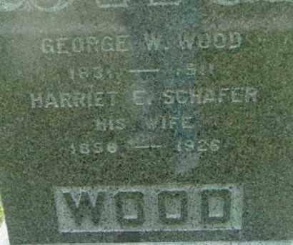 SCHAFER WOOD, HARRIET E - Berkshire County, Massachusetts | HARRIET E SCHAFER WOOD - Massachusetts Gravestone Photos