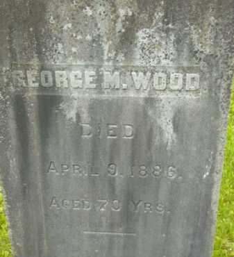 WOOD, GEORGE M - Berkshire County, Massachusetts | GEORGE M WOOD - Massachusetts Gravestone Photos