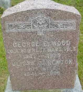 WOOD, GEORGE E - Berkshire County, Massachusetts | GEORGE E WOOD - Massachusetts Gravestone Photos