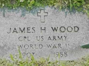 WOOD, JAMES H - Berkshire County, Massachusetts | JAMES H WOOD - Massachusetts Gravestone Photos