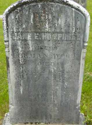 WOOD, JANE E - Berkshire County, Massachusetts | JANE E WOOD - Massachusetts Gravestone Photos