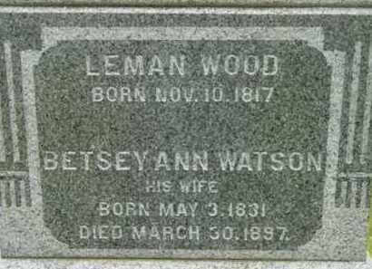 WATSON WOOD, BETSEY ANN - Berkshire County, Massachusetts | BETSEY ANN WATSON WOOD - Massachusetts Gravestone Photos