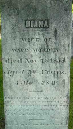WORDEN, DIANA - Berkshire County, Massachusetts   DIANA WORDEN - Massachusetts Gravestone Photos