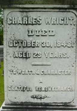 WRIGHT, CHARLES - Berkshire County, Massachusetts   CHARLES WRIGHT - Massachusetts Gravestone Photos