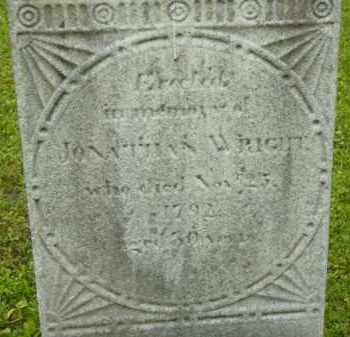 WRIGHT, JONATHAN - Berkshire County, Massachusetts | JONATHAN WRIGHT - Massachusetts Gravestone Photos