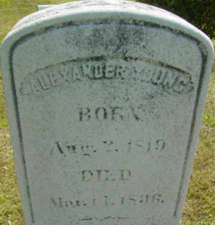 YOUNG, ALEXANDER - Berkshire County, Massachusetts | ALEXANDER YOUNG - Massachusetts Gravestone Photos