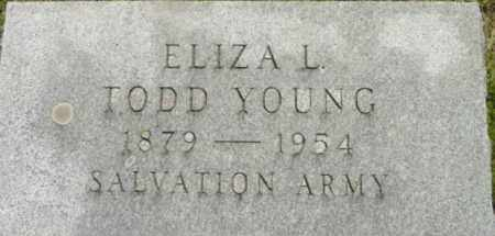 YOUNG, ELIZA L - Berkshire County, Massachusetts | ELIZA L YOUNG - Massachusetts Gravestone Photos