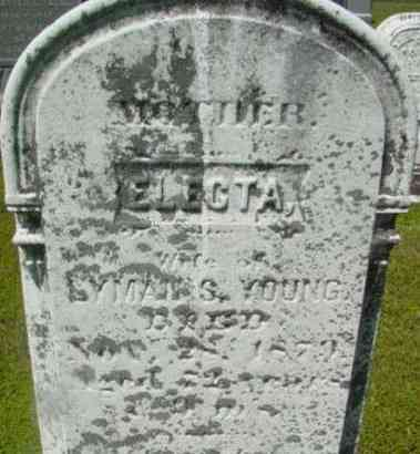 YOUNG, ELECTA - Berkshire County, Massachusetts | ELECTA YOUNG - Massachusetts Gravestone Photos