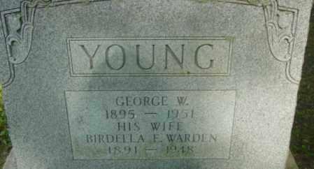 YOUNG, BIRDELLA E - Berkshire County, Massachusetts | BIRDELLA E YOUNG - Massachusetts Gravestone Photos