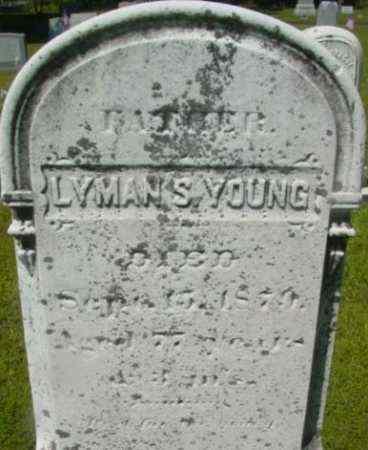 YOUNG, LYMAN S - Berkshire County, Massachusetts | LYMAN S YOUNG - Massachusetts Gravestone Photos