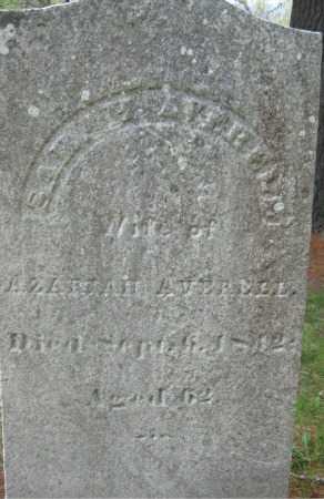 AVERELL, SARAH - Essex County, Massachusetts   SARAH AVERELL - Massachusetts Gravestone Photos