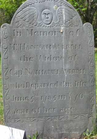 AVERILL, HANNAH - Essex County, Massachusetts | HANNAH AVERILL - Massachusetts Gravestone Photos