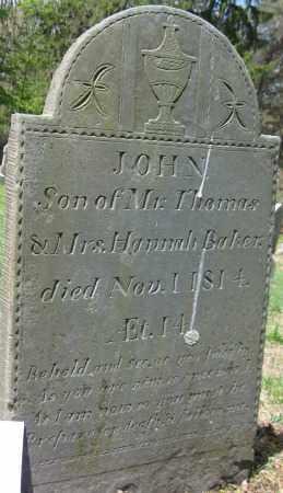 BAKER, JOHN - Essex County, Massachusetts   JOHN BAKER - Massachusetts Gravestone Photos