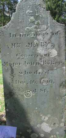 BAKER, MARY - Essex County, Massachusetts | MARY BAKER - Massachusetts Gravestone Photos