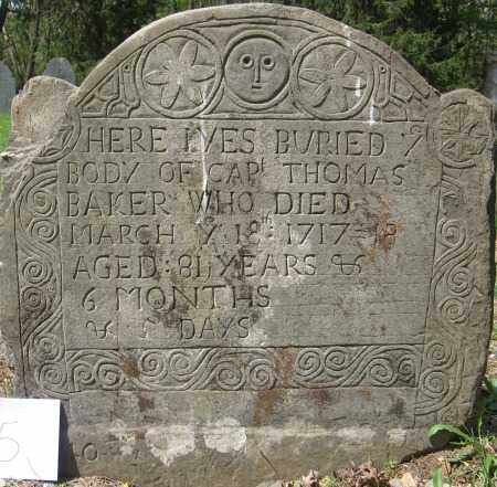 BAKER, THOMAS - Essex County, Massachusetts   THOMAS BAKER - Massachusetts Gravestone Photos