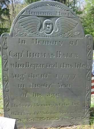 BAKER, THOMAS - Essex County, Massachusetts | THOMAS BAKER - Massachusetts Gravestone Photos