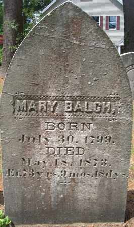 BALCH, MARY - Essex County, Massachusetts | MARY BALCH - Massachusetts Gravestone Photos