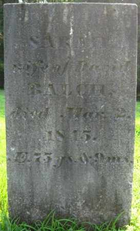 BALCH, SARAH - Essex County, Massachusetts | SARAH BALCH - Massachusetts Gravestone Photos