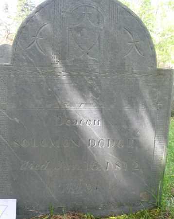 DODGE, SOLOMON - Essex County, Massachusetts   SOLOMON DODGE - Massachusetts Gravestone Photos