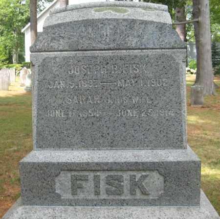 FISK, SARAH J. - Essex County, Massachusetts | SARAH J. FISK - Massachusetts Gravestone Photos