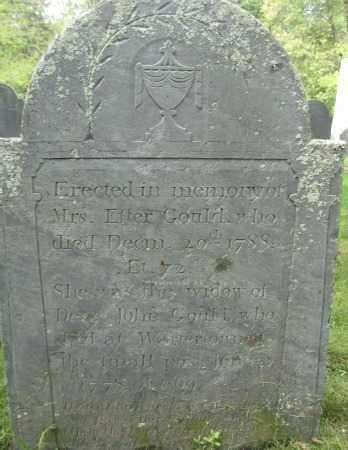 GOULD, ESTER - Essex County, Massachusetts | ESTER GOULD - Massachusetts Gravestone Photos