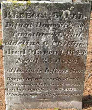 GOULD, REBECCA - Essex County, Massachusetts | REBECCA GOULD - Massachusetts Gravestone Photos