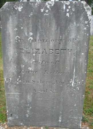 KILLAM, ELIZABETH - Essex County, Massachusetts | ELIZABETH KILLAM - Massachusetts Gravestone Photos
