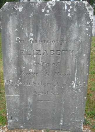 KILLAM, ELIZABETH - Essex County, Massachusetts   ELIZABETH KILLAM - Massachusetts Gravestone Photos
