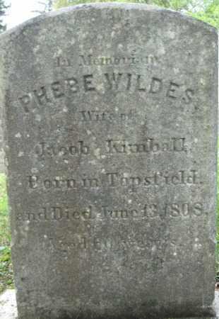 WILDES KIMBALL, PHEBE - Essex County, Massachusetts | PHEBE WILDES KIMBALL - Massachusetts Gravestone Photos