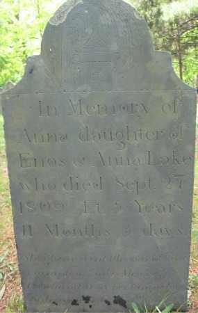LAKE, ANNA - Essex County, Massachusetts | ANNA LAKE - Massachusetts Gravestone Photos