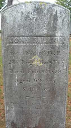 LAKE, JOHN B. - Essex County, Massachusetts | JOHN B. LAKE - Massachusetts Gravestone Photos