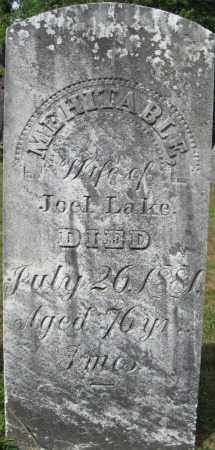 LAKE, MEHITABLE - Essex County, Massachusetts | MEHITABLE LAKE - Massachusetts Gravestone Photos