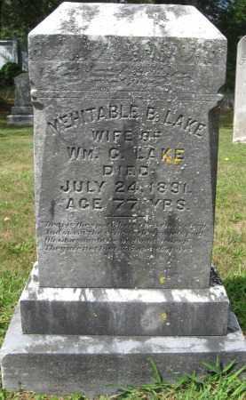 LAKE, MEHITABLE B. - Essex County, Massachusetts | MEHITABLE B. LAKE - Massachusetts Gravestone Photos