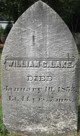 LAKE, WILLIAM G. - Essex County, Massachusetts | WILLIAM G. LAKE - Massachusetts Gravestone Photos