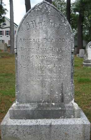 PEABODY, ABIGAIL - Essex County, Massachusetts | ABIGAIL PEABODY - Massachusetts Gravestone Photos