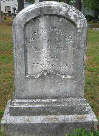 PEABODY, LUCY A. - Essex County, Massachusetts | LUCY A. PEABODY - Massachusetts Gravestone Photos