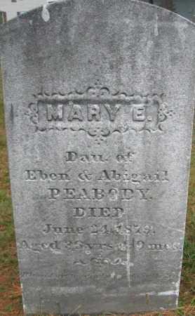 PEABODY, MARY E. - Essex County, Massachusetts | MARY E. PEABODY - Massachusetts Gravestone Photos