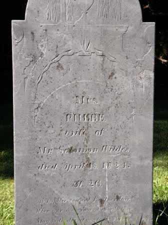 WILDES, PHEBE - Essex County, Massachusetts | PHEBE WILDES - Massachusetts Gravestone Photos