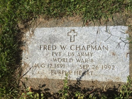 CHAPMAN #1, FRED WILLIAM - Franklin County, Massachusetts   FRED WILLIAM CHAPMAN #1 - Massachusetts Gravestone Photos